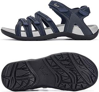 صندل نسائي للمشي لمسافات طويلة من Viakix - أحذية رياضية مريحة وأنيقة مع دعم قوس للتنزه، في الهواء الطلق، المشي، الماء، الر...