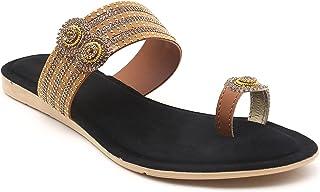 Gelsin women Black Synthetic Sandal for women (BS-1001)