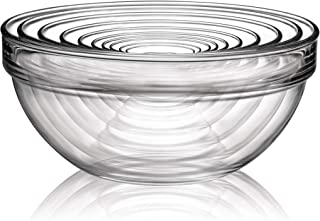 Luminarc N6938 10 Piece Stackable Bowl Set, Clear