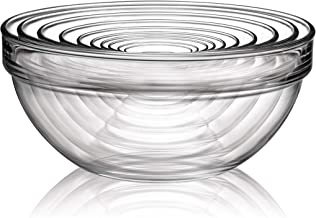 Luminarc N6938 10 Piece Stackable Bowl Set, Clear