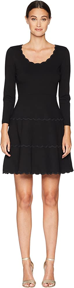 4b7033d8cc2a Black. 47. Kate Spade New York. Broome Street Scallop Ponte Dress.  $79.99MSRP: $228.00