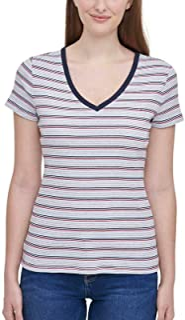 Tommy Hilfiger Women's Short Sleeve V-Neck T-Shirt