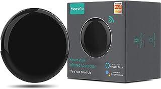 MoesGo Concentrador IR por Control Remoto con WiFi para controlar hogares Digitales con la Voz o Las apps Smart Life y Tuy...