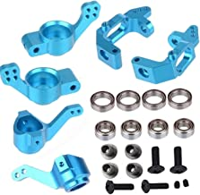 ShareGoo Aluminum Steering Knuckle Hub Mount Upgrade 102010 102011 102012 Part Set for HSP 1/10 RC Volcano EPX Monster Model Car Truck -Blue