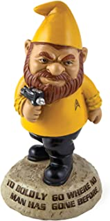 BigMouth Inc Star Trek Garden Gnome, Captain Kirk Statue,to Boldly Go Where No Man Has Gone Before Saying, Star Trek Lawn Decor, Outdoor Statue