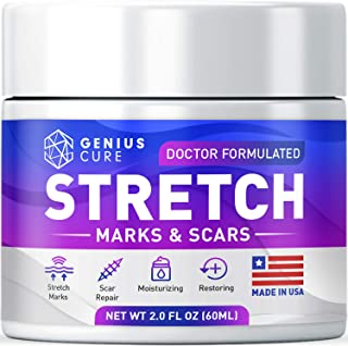 Stretch Marks & Scars Defense Cream Daily Moisturizer w Organic Shea Butter + Plant Oils + Vitamins to Prevent, Reduce and...