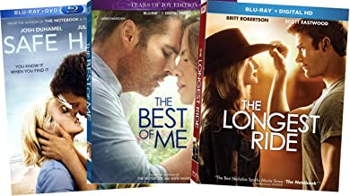3-Film Nicholas Sparks Trilogy - Safe Haven/ The Best of Me/ The Longest Ride (Blu-ray + DVD)