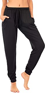 Jogger with Pockets for Women Drawstring Lightweight Sweats Yoga Lounge Pants + Plus Size (P7)