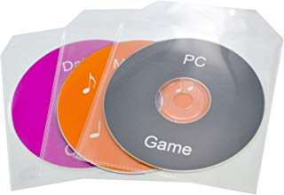 TekNmotion Single CD/DVD 100 Clear Plastic Sleeves