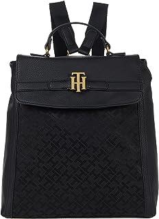 Tommy Hilfiger Laurel II-Flap Backpack-Geometric Jacquard