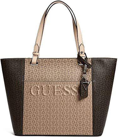 GUESS Factory Womens Rigden Monogram Large Tote