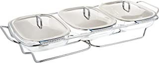 Chef Inox Food Warmer, K570, Silver/Clear, Glass/Stainless Steel