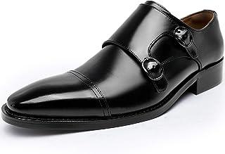 赞助广告- Foxxseis 商务鞋 绅士鞋 男士 真皮 Monk系带鞋 皮鞋