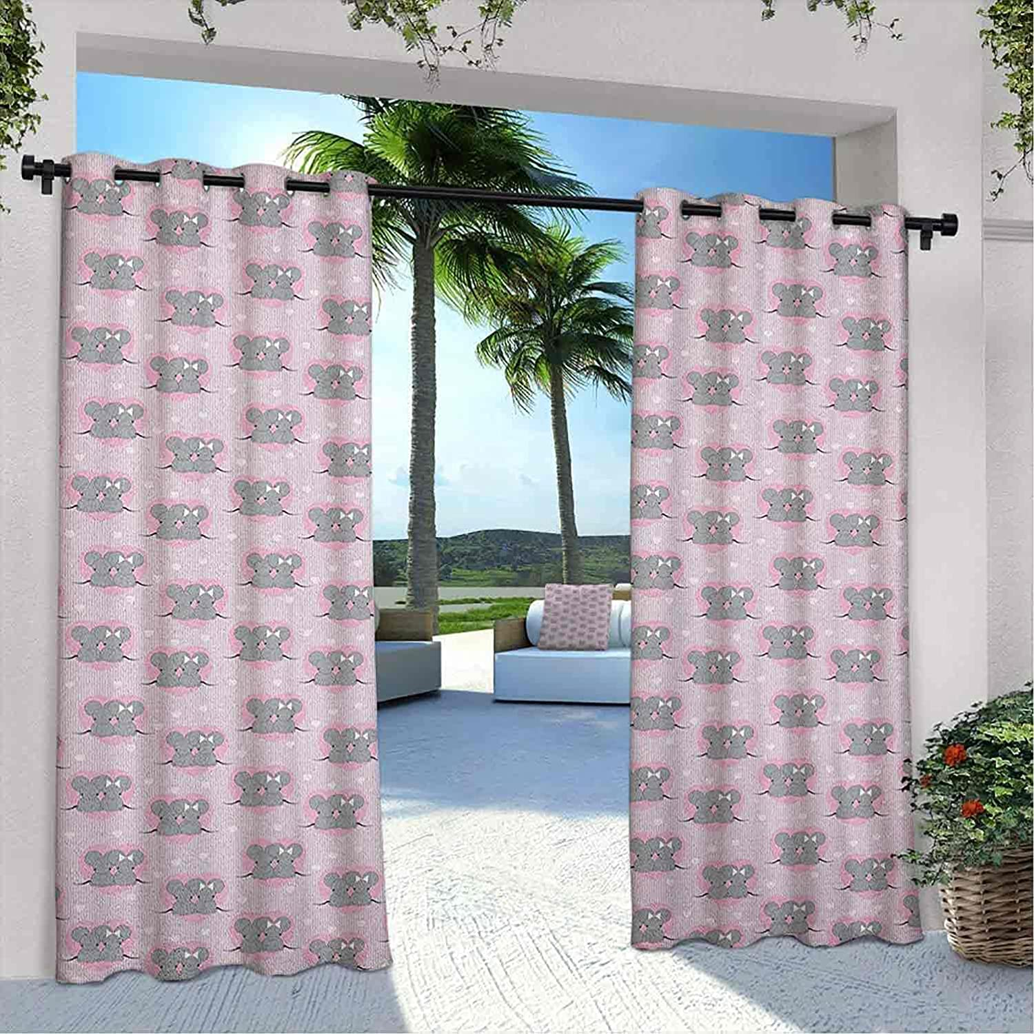 Outdoor Pavilion Pink Ranking TOP4 and Grey Little Mouse Curtain Characters Elegant