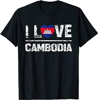 I Love Cambodia T-Shirt Cambodia Heart Gift