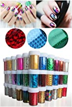 XICHENStarry Sky Stars Nail Art Stickers Tips Wraps Foil Transfer Adhesive Glitters Acrylic DIY Decoration (48PCS / Colors)(4cm100cm)