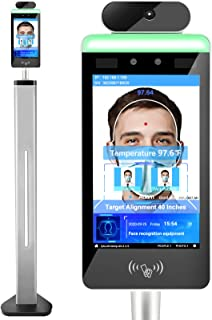 WiFi Non-Contact Face Recognition Temperature Measurement Scanner withTouch Screen and face Comparison Library, Automatic ...