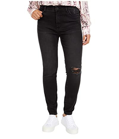KUT from the Kloth Connie High-Rise Fab Ab Ankle Skinny in Hundred (Hundred Wash) Women