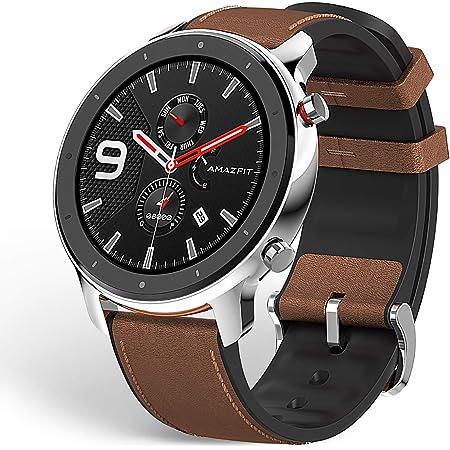 """Amazfit GTR 47mm Reloj Inteligente Deportivo AMOLED de 1.39"""",GPS GLONASS Integrado Frecuencia Cardíaca de 24 Horas Larga duración de batería 12 Deportes Diferentes Acero Inoxidable"""