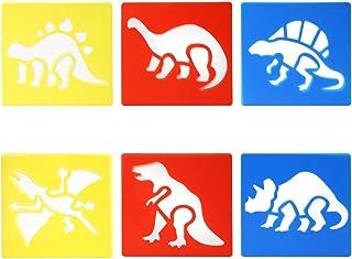TRIXES 6pièce Dinosaure Dessin Pochoir modèles pour Le Scrapbooking Fabrication de Cartes