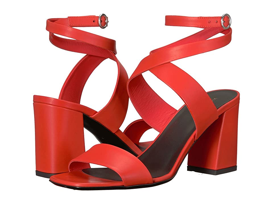 Via Spiga Evelia Heeled Sandal (Poppy Red Leather) Women