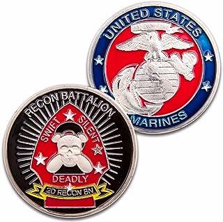 Art Crafter USMC 2D Recon Battalion Challenge Coin Badge US4