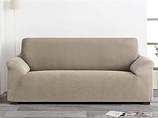 comprar comparacion Lanovenanube Belmarti - Funda sofá Milan - PatternFit - 3 plazas - Color Marfil C01