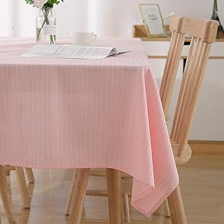 Deconovo Manteles para Mesas Rectangulares Originales de Tela Moderna 130 x 280 cm Rosa