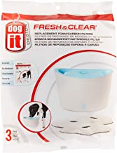Dogit Fresh & Clear Drinking Fountain, Elevated Dog Water Dispenser, Replacement filters