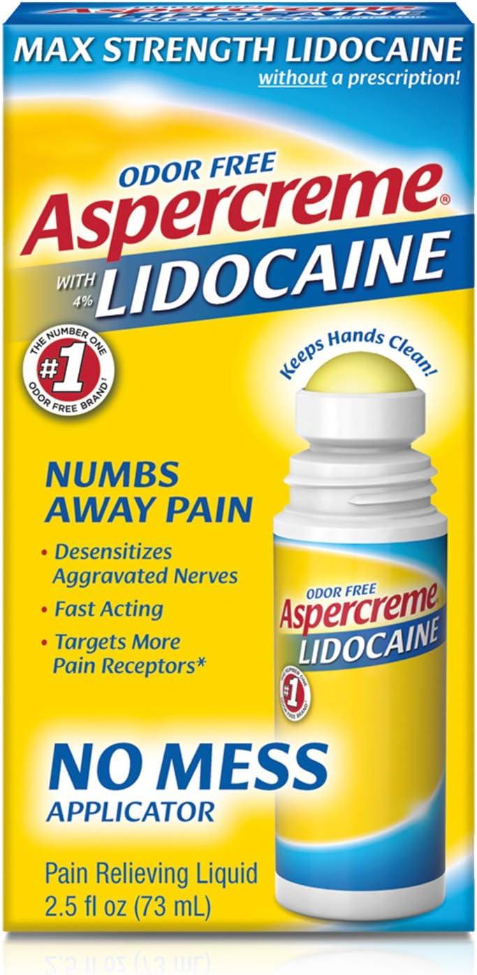 Aspercreme 4% Lidocaine No Mess Applicator, 2.5 Ounce (Pack of 3) : Health & Household