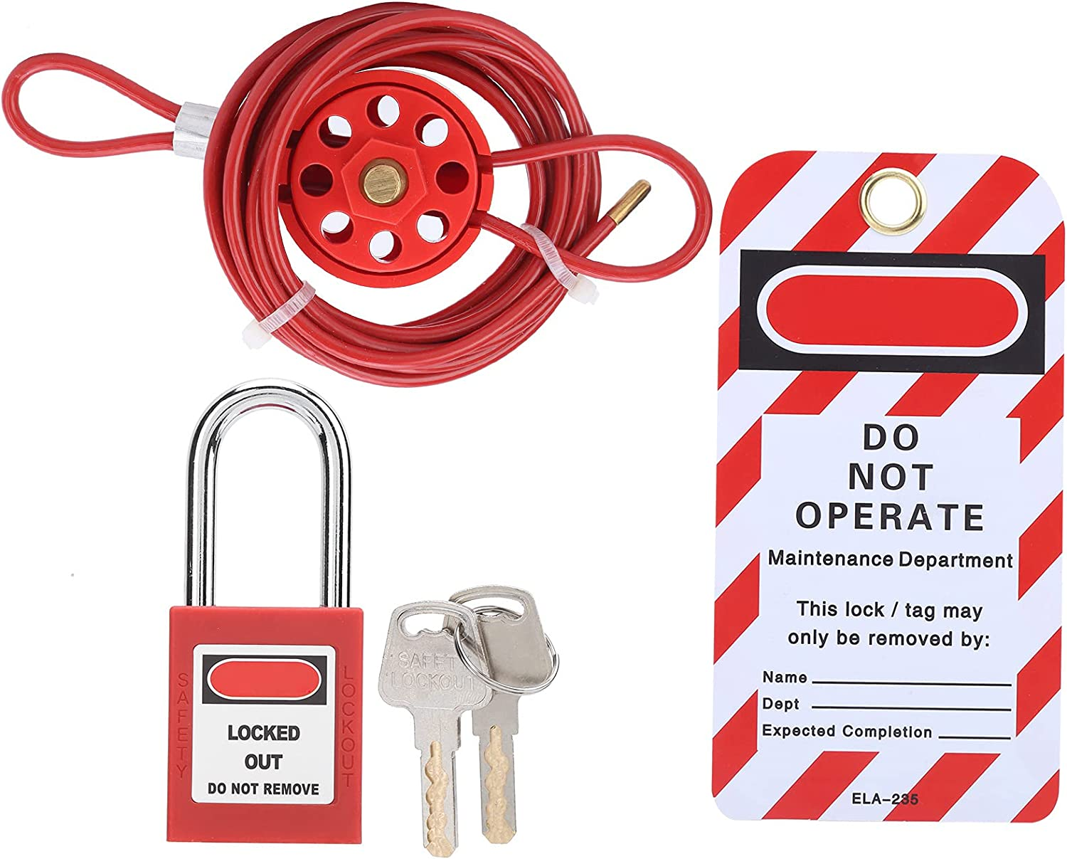 Loop Cable Lock Stainless Steel Explosive 35% OFF Pl Directly managed store Red for