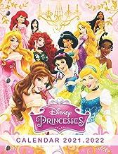 Disney Princesses: 2021 – 2022 Calendar – 18 months – 8.5 x 11 inch High Quality Images