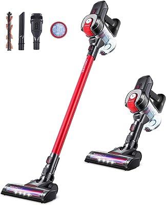 DEENKEE 6 in 1 Cordless Stick Vacuum Cleaner, 250W 18Kpa Powerful Suction, 35Min Runtime & 2 Modes, Lightweight Stick Handheld Vacuum Cleaner for Hard Floor Carpet Car Pet Hair