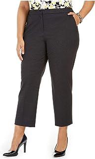 Kasper Womens Plus Elastic Back Office Dress Pants Black 16W