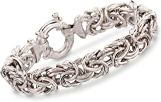 Ross-Simons Italian Sterling Silver Large Byzantine Bracelet For Women 7, 8 Inch 925 Made in Italy
