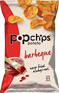 Popchps Potato Chips, Barbeque, 3.5 Ounce (Pack of 12)