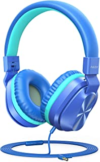 PeohZarr Kids Headphones with Mic, 85dB/94dB Safe Volume Limited On-Ear Headphones for Kids Girls Boys, 3.5mm Jack Stereo ...