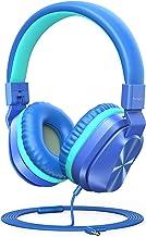 PeohZarr Kids Headphones with Mic, 85dB/94dB Safe Volume Limited On-Ear Headphones for Kids Girls Boys, 3.5mm Jack Stereo ...