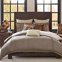 Hampton Hill Roaring River Queen Size Bed Comforter Duvet 2-In-1 Set Bed In A Bag - Taupe , Jacquard – 8 Piece Bedding Sets – Ultra Soft Microfiber Bedroom Comforters