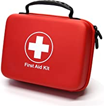 Compact First Aid Kit (228pcs) Designed for Family Emergency Care. Waterproof EVA Case and Bag is Ideal for The Car, Home, Boat, School, Camping, Hiking, Office, Sports. Protect Your Loved Ones.ETC