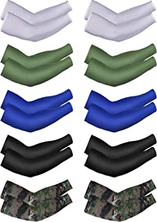 Mudder Unisex UV Protection Arm Sleeves Cooling Arm Sleeves Ice Silk Arm Cover Sleeves for Cycling Jogging Outdoors Wearing