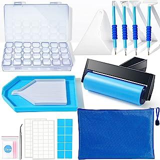 لوازم جانبی نقاشی الماس Suptikes ، ابزار نقاشی الماس با غلتک آبی زیبا و جعبه گلدوزی الماس برای هنر نقاشی الماس
