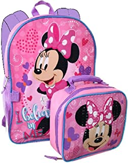 Minnie Mouse Backpack Combo Set - Disney Minnie Mouse 2 Piece Backpack School Set
