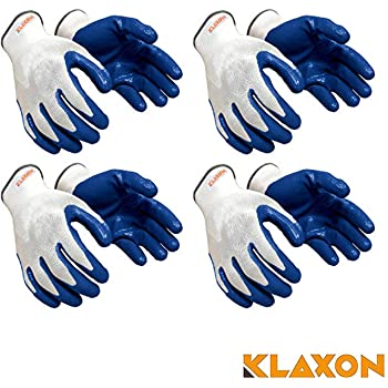 Klaxon Cotton Safety Hand Gloves ( 4 Pair)