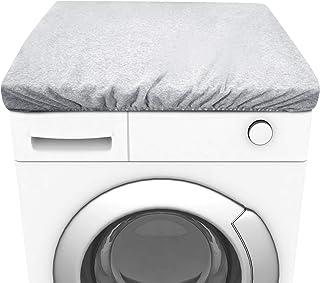 JMITHA Anti Poussière Housse Machine à Laver Sèche-Linge Housse, 100% Coton Tissu épais Super Protection Housse Protéger L...