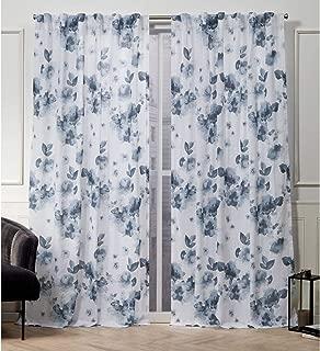 Nicole Miller Kristy Hidden Tab Top Curtain Panel, Indigo Blue, 50x108, 2 Piece