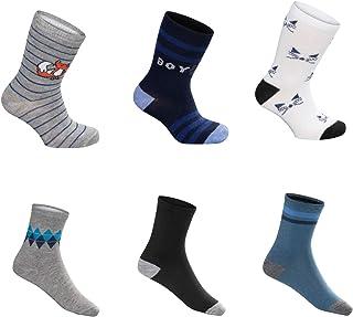 SG-WEAR 12 pares de calcetines para niños para Chico con un alto contenido de algodón Calcetines de deporte coloridos en v...