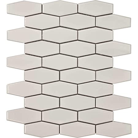 Classic Linear Brown Grey Porcelain Stone Mosaic Tile MTO0236