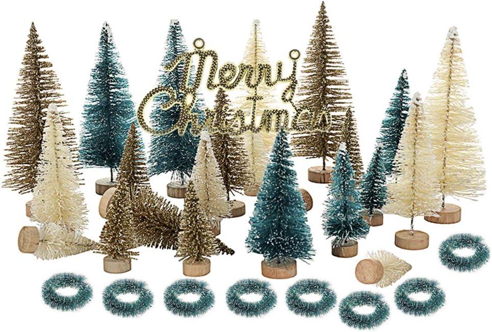Dysetcs 24PCS Artificial Mini Trees Christmas Omaha Mall Sisal Super-cheap T