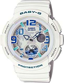 Casio Baby-G Beach Traveler White Dial White Quartz Woman's Watch BGA190-7B